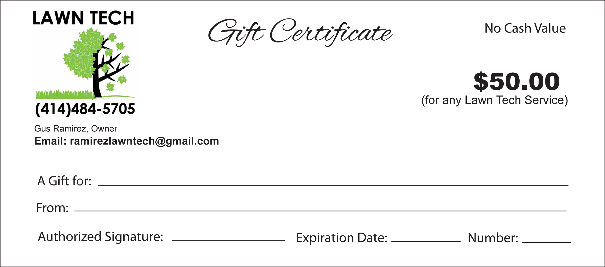 gift certificates lawn care services milwaukee county gift certificates